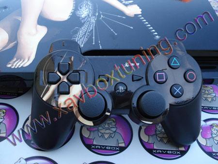 skin joystick et coque ps3 slim